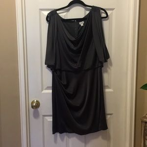 Gray flowy dress